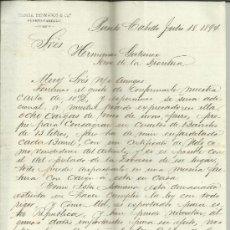 Cartas comerciales: CARTA COMERCIAL DE GARCÍA HERMANOS & Cª. PUERTO-CABELLO. VENEZUELA. 1894. Lote 37931691