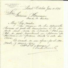 Cartas comerciales: CARTA COMERCIAL DE GARCÍA HERMANOS & Cª. PUERTO-CABELLO. VENEZUELA. 1894. Lote 37931716