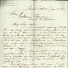 Cartas comerciales: CARTA COMERCIAL DE GARCÍA HERMANOS & Cª. PUERTO-CABELLO. VENEZUELA. 1894. Lote 37931735