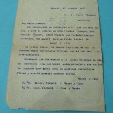 Cartas comerciales: CARTA COMERCIAL MANSO Y PINO. 1947. Lote 38073261
