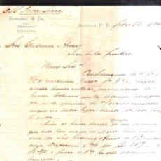 Cartas comerciales: CARTA COMERCIAL DE SCHNABEL & CO. AGUADILLA, PUERTO RICO. 1894. Lote 38118490