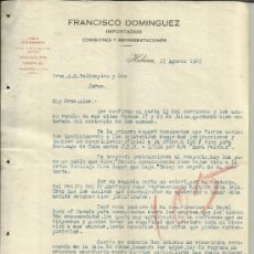 Cartas comerciales: CARTA COMERCIAL DE FRANCISCO DOMÍNGUEZ. IMPORTADOR. HABANA. CUBA. 1925 (2 HOJAS). Lote 38125506