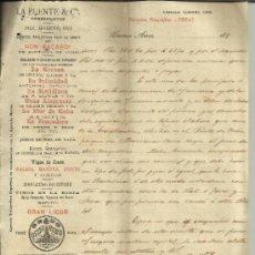 Cartas comerciales: CARTA COMERCIAL DE RAMÓN BUHIGAS. TABACOS DE LA HABANA. BUENOS AIRES. ARGENTINA. 1899. (2 HOJAS) . Lote 38125870