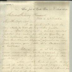 Cartas comerciales: CARTA COMERCIAL DE J. ALFARO. SAN JOSÉ. COSTA RICA. 1890. Lote 38127093