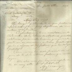Cartas comerciales: CARTA COMERCIAL DE MIGUEL ADIEGO. SAN JOSÉ. COSTA RICA. 1891. Lote 38130859