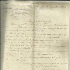 Cartas comerciales: CARTA COMERCIAL DE MIGUEL ADIEGO. SAN JOSÉ. COSTA RICA. 1891 . Lote 38130873