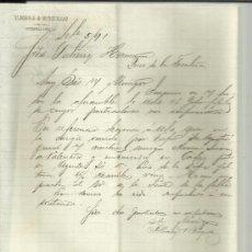 Cartas comerciales: CARTA COMERCIAL DE ALBORNOZ & BURGUILLOS. PUERTO-CABELLO. VENEZUELA. 1891 . Lote 38130894