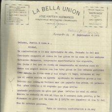Cartas comerciales: CARTA COMERCIAL DE JOSÉ KAFFATI HERMANOS. LA BELLA UNIÓN. TEGUCIGALPA. HONDURAS. 1932. Lote 38134662