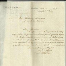 Cartas comerciales: CARTA COMERCIAL DE VEGA E HIJOS. SANTIAGO DE CHILE . CHILE. 1894. Lote 38146088