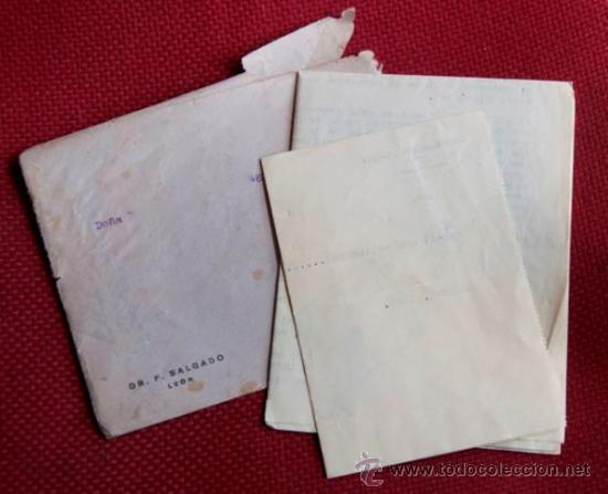 Cartas comerciales: ANALISIS DIAGNOSTICO MEDICO Y RECETA CON SOBRE 1946 - Foto 3 - 38421978