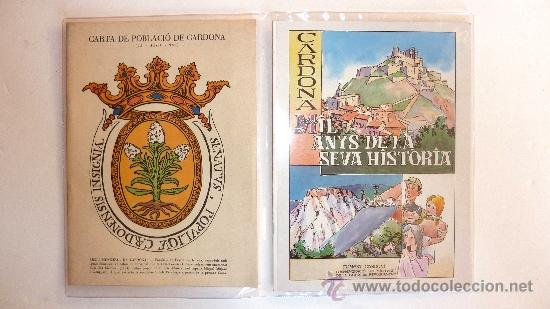 CARDONA . CARDONA . PROGRAMA . FACSIMIL .COMIC . MIL·LENARI DE LA CARTA DE REPOBLAMENT 986-1986. (Coleccionismo - Documentos - Cartas Comerciales)