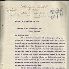 Cartas comerciais: CARTA COMERCIAL DE F. SYLVAIN. SALCHICHONERÍA UNIVERSAL. MÉXICO (MÉXICO). 1922. Lote 38635832