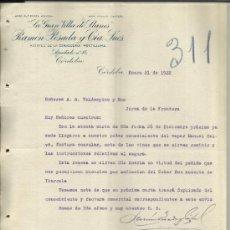 Cartas comerciais: CARTA COMERCIAL DE LA GRAN VILLA DE LLANES. RAMÓN POSADA Y CIA. SUCS. MOCTEZUMA. CÓRDOBA.MÉXICO.1922. Lote 38641232