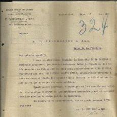 Cartas comerciales: CARTA COMERCIAL DE E. QUEIROLO Y HNO. ANTIGUA FÁBRICA DE LICORES. MONTEVIDEO. URUGUAY. 1922. Lote 38641376