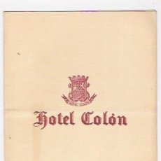 Cartas comerciales: HOTEL COLON -CARTA DE LA COMIDA OFRECIDA POR LA PEÑA MOTORISTA BARCELONA EN 1953. Lote 38682707