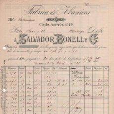 Lettere commerciali: CARTA COMERCIAL FÁBRICA ABANICOS SALVADOR BONELL. VALENCIA 1921. Lote 38885508