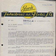 Cartas comerciales: CARTA CON MEMBRETE COMERCIAL. SEVILLA 16 DE OCTUBRE DE 1940... Lote 38946160