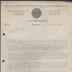 Cartas comerciales: CARTA CON MEMBRETE COMERCIAL. BADALONA 5 DE DICIEMBRE DE 1940.. Lote 38946191