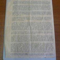 Cartas comerciales: II REPUBLICA. CARTA MECANOGRAFIADA, DISCURSO ALFONSO XIII DANDO SU APOYO AL GOBIERNO DE FRANCO. 1941. Lote 39748692