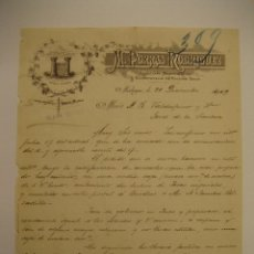 Cartas comerciales: M. PORRAS RODRÍGUEZ, EXPORTADOR DE PASAS, MÁLAGA 1909. Lote 29025007