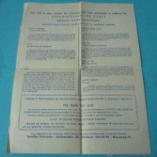 Cartas comerciales: CARTA COMERCIAL PUBLICITARIA SEMILLAS FRANCESAS -CHAMPIÑONES DE PARÍS. Lote 39946821