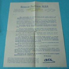 Cartas comerciales: CARTA COMERCIAL SEMILLAS FRANCESAS - CHAMPIÑONES DE PARÍS. Lote 39946839