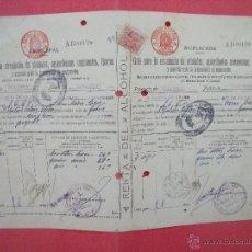 Cartas comerciales: MADRID.-H. GARCIA DE GRADO.-GUIA PARA LA CIRCULACION DE ALCOHOLES,LICORES.-AÑO 1941.. Lote 40165695