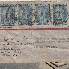 Cartas comerciales: SOBRE COMERCIAL MATASELLO DE LA HABANA, CUBA, DIRIGIDO A OVIEDO. CIA. DE SOMBREROS. Lote 40297268