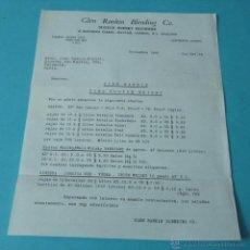 Cartas comerciales: CARTA COMERCIAL GLEN RANKIN BLENDING. SCOTCH WHISKY. 1965. Lote 40415478