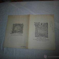 Cartas comerciales: ANTIGUO CARTA MENU ANTIGUA CASA SOBRINO DE BOTIN CALLE DE CUCHILLEROS MADRID 1968. Lote 40682894