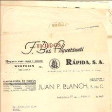 Cartas comerciales: BARCELONA - LOTE DE 22 CARTAS COMERCIALES Y FACTURAS DIFERENTES AÑOS 40 - 50 (VER FOTOGRAFÍAS). Lote 40683466