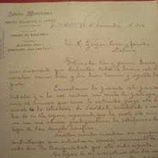 Cartas comerciales: CARTA COMERCIAL. ISLEÑA MARÍTIMA. CIRCULADA DE ALICANTE A PALMA DE MALLORCA. 1910.. Lote 40837762