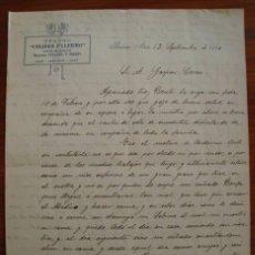 Cartas comerciales: CARTA COMERCIAL. TEATRO COLISEO PALERMO. BUENOS AIRES. CIRCULADA EN 1910.. Lote 40848878