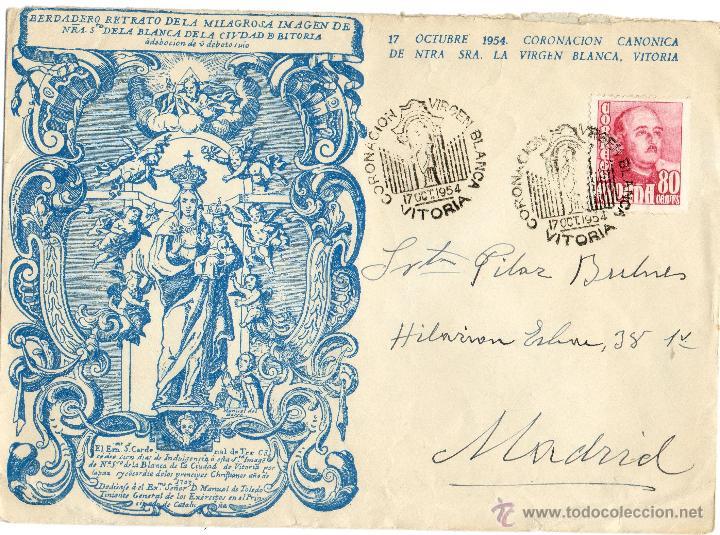 CARTA ANTIGUA-17 OCTUBRE 1954 -CORONACION VIRGEN BLANCA-VICTORIA (Coleccionismo - Documentos - Cartas Comerciales)