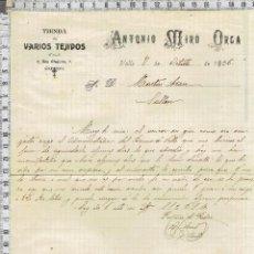 Cartas comerciales: CARTA COMERCIAL FECHADA EN VALLS-1906. Lote 40913744