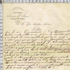 Cartas comerciales: CARTA COMERCIAL FECHADA EN ARENYS DE MUNT.-1908.. Lote 41192771