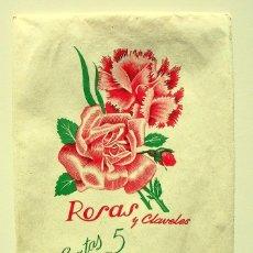Cartas comerciales: ANTIGUO PAPEL CARTA Y SOBRES - ROSAS Y CLAVELES - 2502. Lote 41282228
