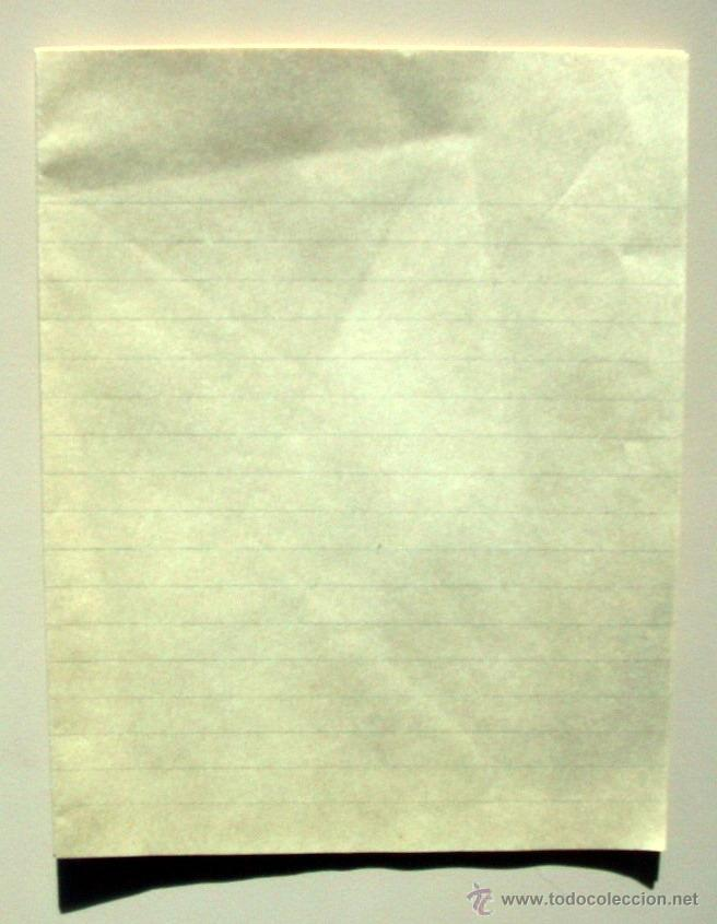 Cartas comerciales: ANTIGUO PAPEL CARTA y SOBRES - ROSAS Y CLAVELES - 2502 - Foto 3 - 41282228