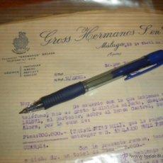 Cartas comerciales: GROSS HERMANOS S. EN C. MALAGA.. Lote 41343436