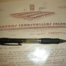Cartas comerciales: MATADEROS INDUSTRIALES SOLER, MISSA. SALCHICHON PROLONGO. CARTAMA MALAGA.. Lote 41344790