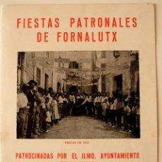 Cartas comerciales: PROGRAMA FIESTAS PATRONALES FORNALUTX, 1979 + SALUDO DEL ALCALDE . Lote 41581060