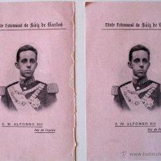 Cartas comerciales: 2 FOLLETOS ELIXIR ESTOMACAL DE SAIZ DE CARLOS (ALFONSO XIII, REY DE ESPAÑA) . Lote 41586996