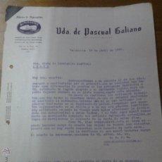 Cartas comerciales: ANTIGUA CARTA COMERCIAL PASCUAL GALIANO FABRICA DE ALPARGATAS. Lote 41677313