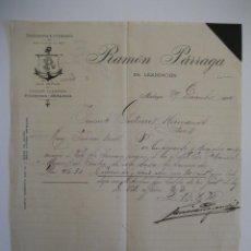 Cartas comerciales: RAMÓN PÁRRAGA, MÁLAGA 1914.. Lote 41706319