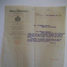 Cartas comerciales: GROSS HERMANOS, MÁLAGA 1917.. Lote 41714915