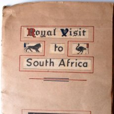 Cartas comerciales: RARA COLECCION DE RECORTES ORIGINALES DE PRENSA,GUIA VISITA REAL A SURAFRICA,1947, REYES INGLATERRA . Lote 41738469