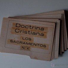 Cartas comerciales: DOCTRINA CRISTIANA, LOS SACRAMENTOS Nº4. 44 TARJETAS PARA ENSEÑAR LA LECCION (ANTIGUAS) . Lote 41945309