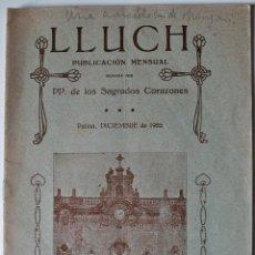 Cartas comerciales: PUBLICACION MENSUAL LLUCH (PP. SAGRADOS CORAZONES) DICIEMBRE 1925 . Lote 41961379