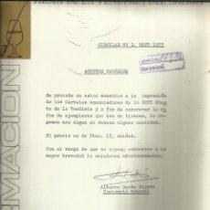 Cartas comerciales: CARTA CIRCULAR DEL PALACIO DEL VINO. FIESTA DE LA VENDIMIA. A. DURÁN TEJERA. JEREZ.CÁDIZ. 1973. Lote 42454947