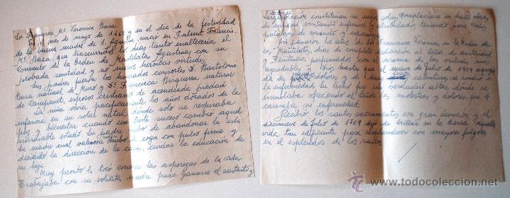 2 páginas a mano originales de antigua imprenta - Comprar Cartas ...